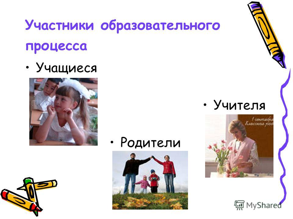 Участники образовательного процесса Учащиеся Учителя Родители