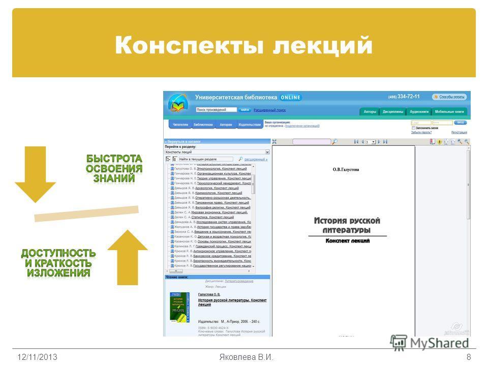 Конспекты лекций 12/11/2013Яковлева В.И.8
