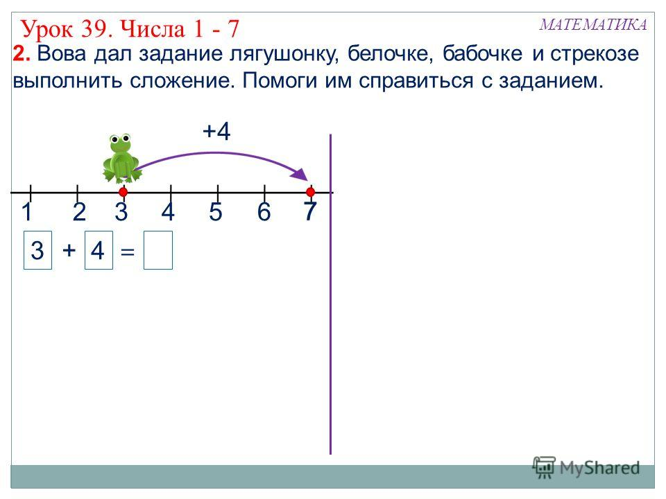 Презентации числа 1-7 1 класс математика школа