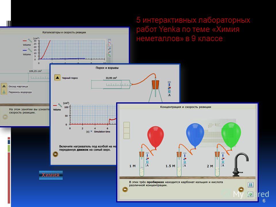 Лабораторный практикум 6 5 интерактивных лабораторных работ Yenka по теме «Химия неметаллов» в 9 классе Химия
