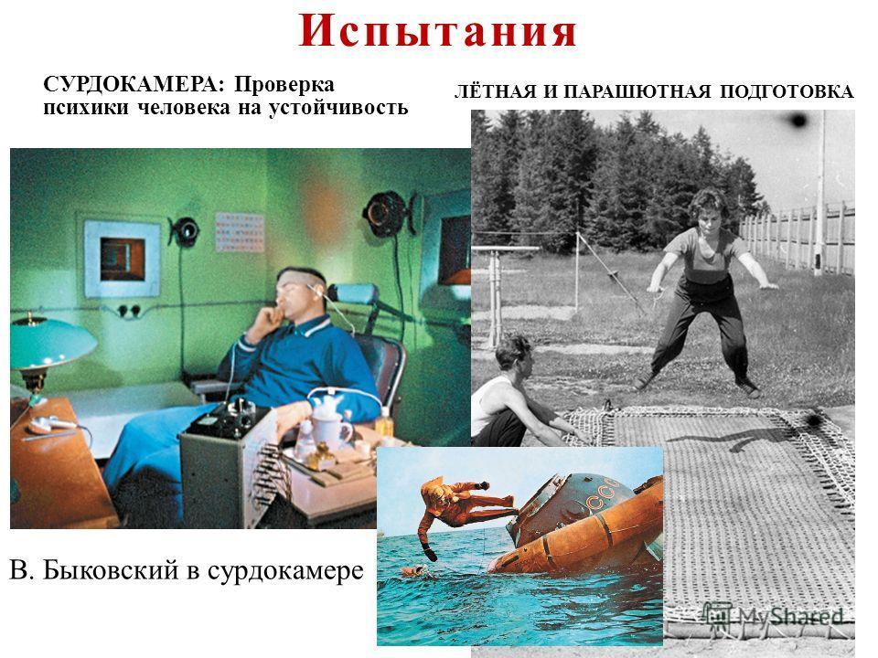 СУРДОКАМЕРА : Проверка психики человека на устойчивость В. Быковский в сурдокамере ЛЁТНАЯ И ПАРАШЮТНАЯ ПОДГОТОВКА Испытания