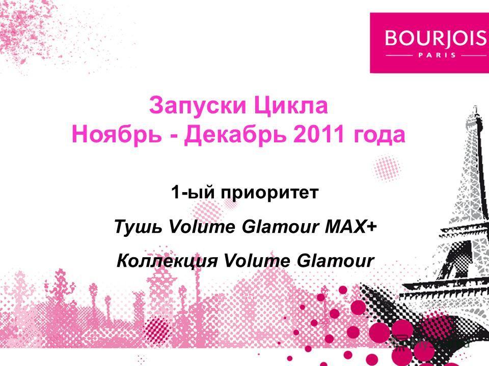 1-ый приоритет Тушь Volume Glamour MAX+ Коллекция Volume Glamour Запуски Цикла Ноябрь - Декабрь 2011 года