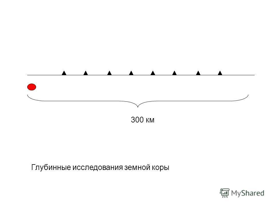 Глубинные исследования земной коры 300 км