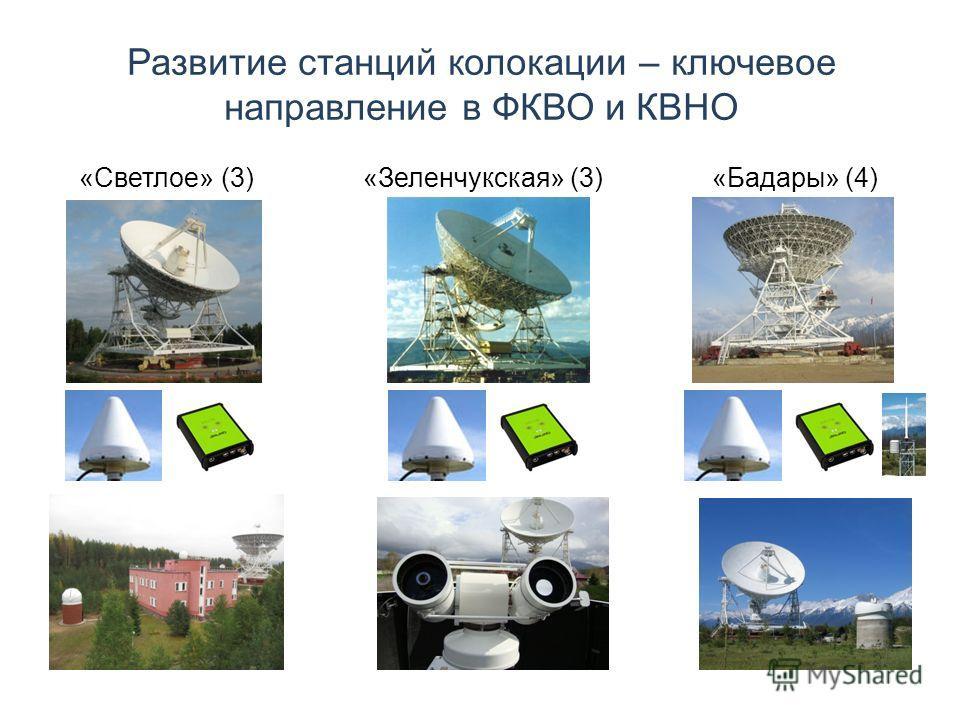 Развитие станций колокации – ключевое направление в ФКВО и КВНО «Светлое» (3) «Зеленчукская» (3) «Бадары» (4)