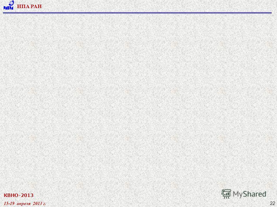 КВНО-2013 15-19 апреля 2013 г. ИПА РАН 22