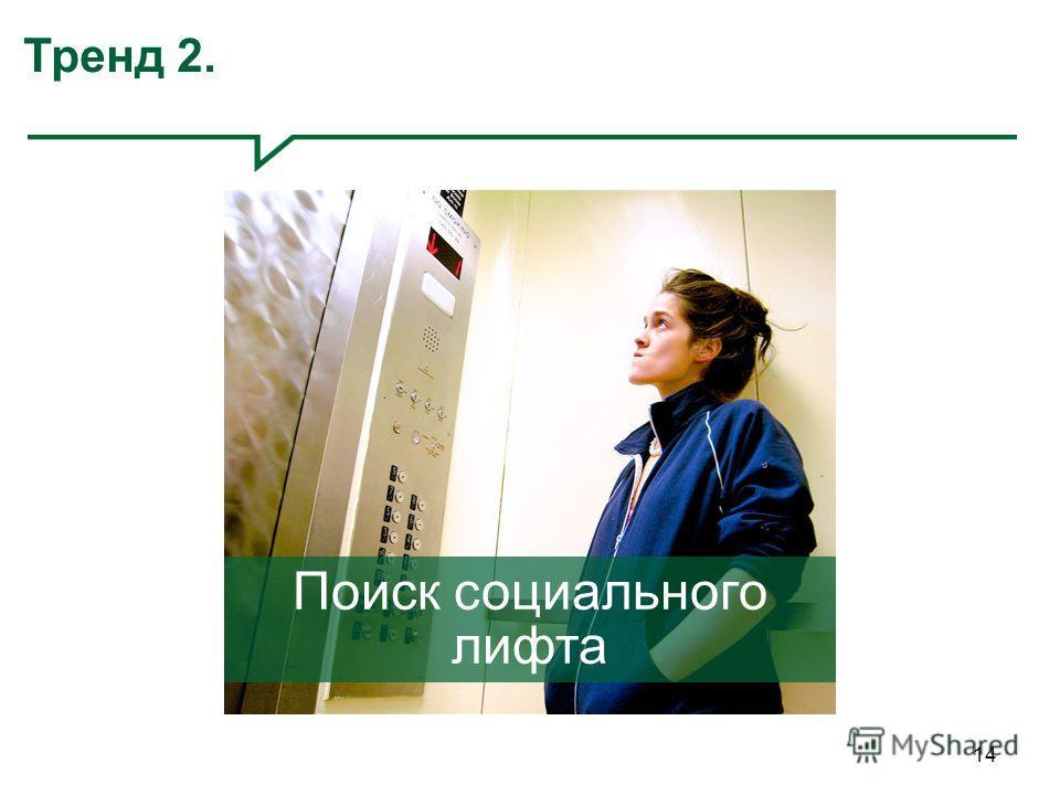 14 Тренд 2. Поиск социального лифта