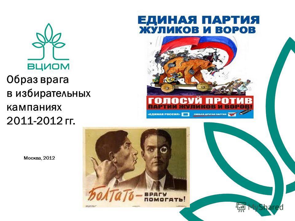 Москва, 2012 Образ врага в избирательных кампаниях 2011-2012 гг.