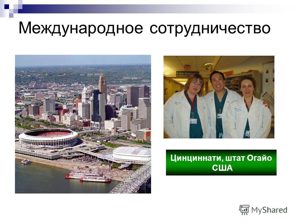 Международное сотрудничество Цинциннати, штат Огайо США