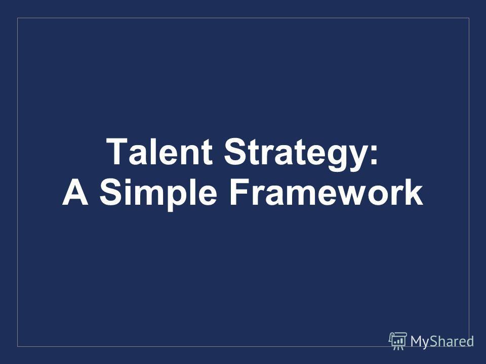Talent Strategy: A Simple Framework