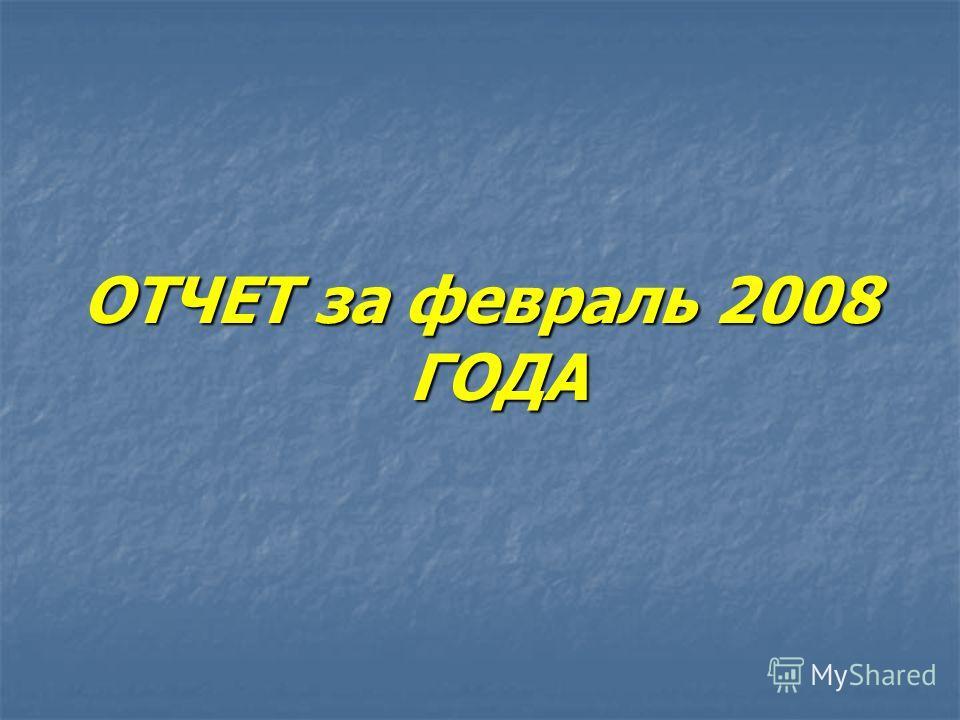 ОТЧЕТ за февраль 2008 ГОДА