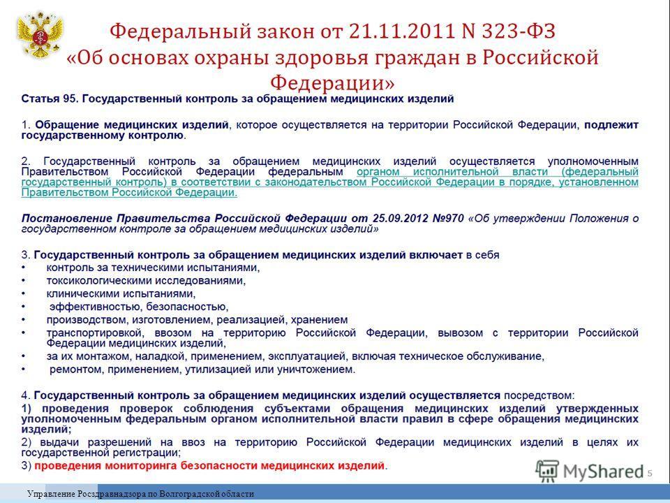 Управление Росздравнадзора по Волгоградской области