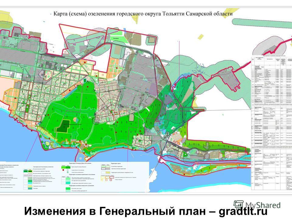 Изменения в Генеральный план – gradtlt.ru