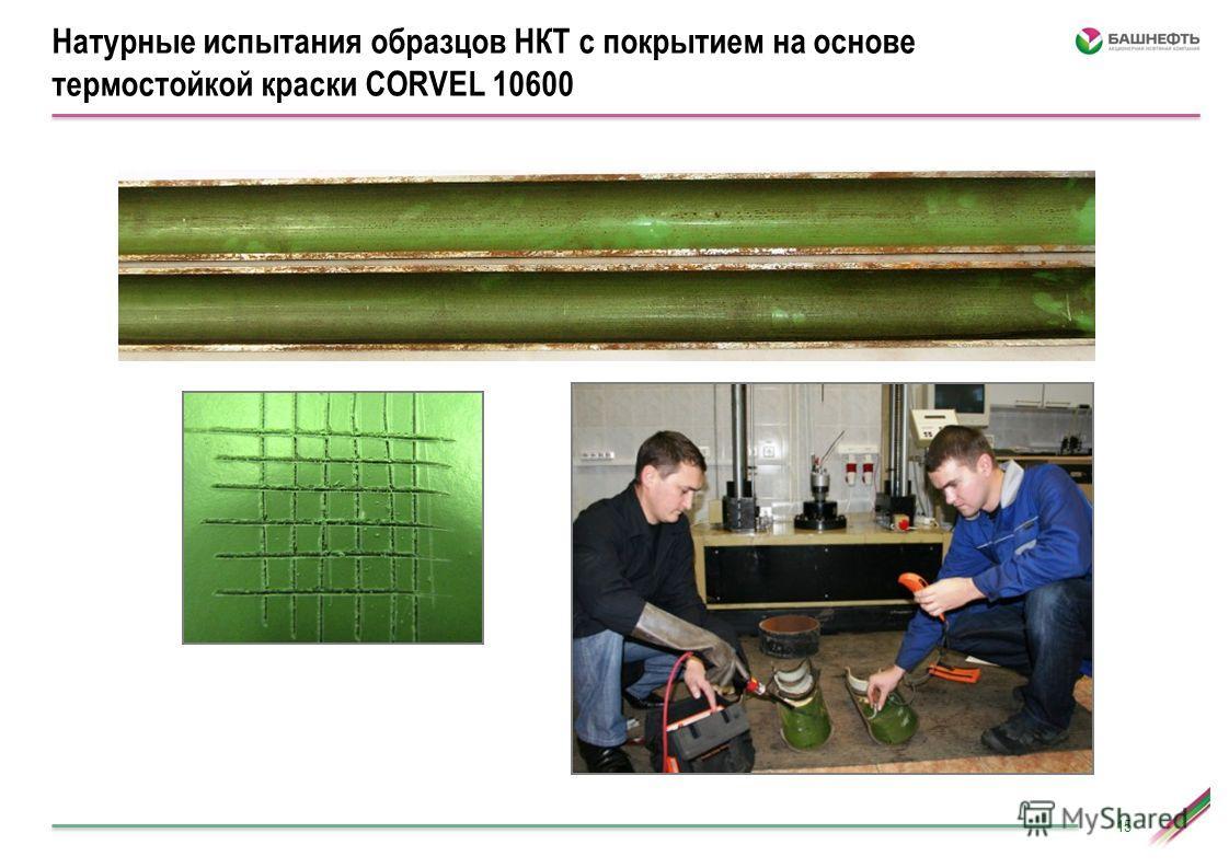 15 Натурные испытания образцов НКТ с покрытием на основе термостойкой краски CORVEL 10600