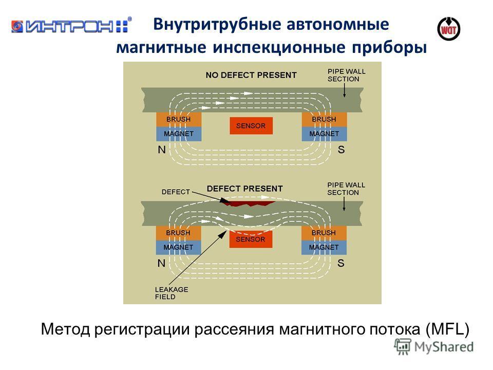 Внутритрубные автономные магнитные инспекционные приборы Метод регистрации рассеяния магнитного потока (MFL)