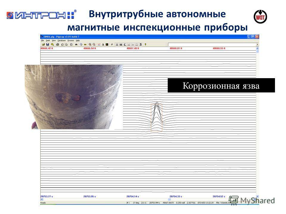 Коррозионная язва Внутритрубные автономные магнитные инспекционные приборы