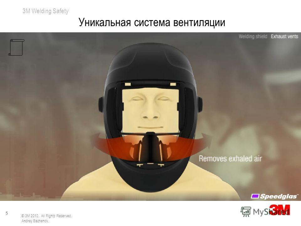 3M Welding Safety 5 © 3M 2010. All Rights Reserved. Andrey Bazhenov. Уникальная система вентиляции