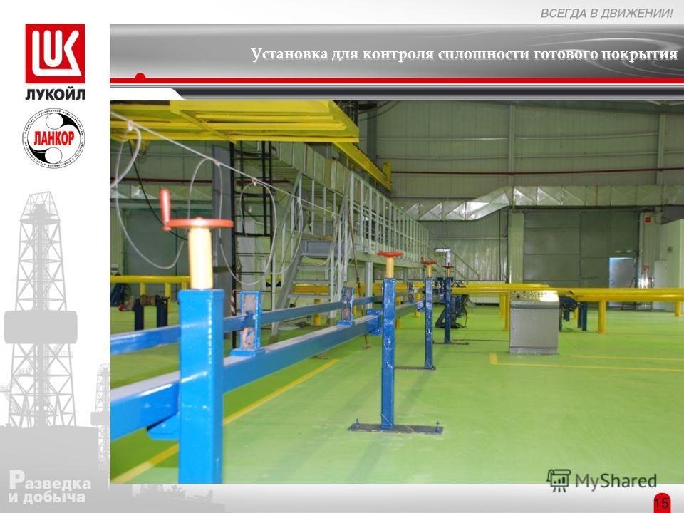 Установка для контроля сплошности готового покрытия Структура предприятия 15