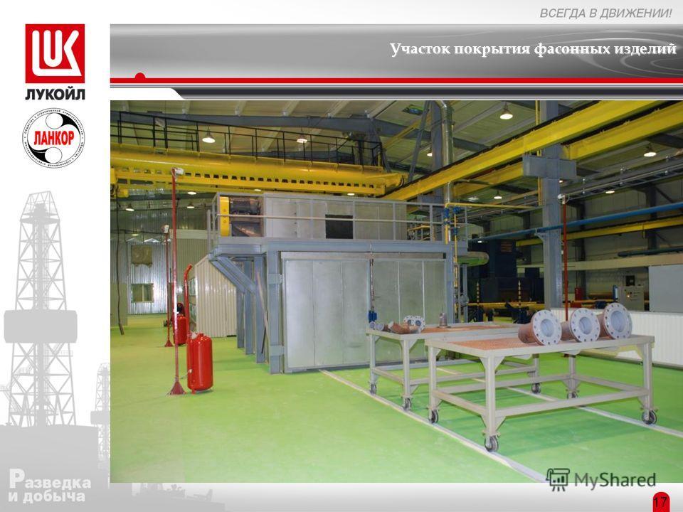 Участок покрытия фасонных изделий Структура предприятия 17