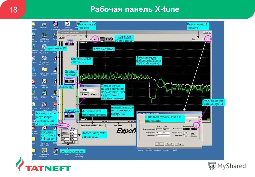 Рабочая панель X-tune 18