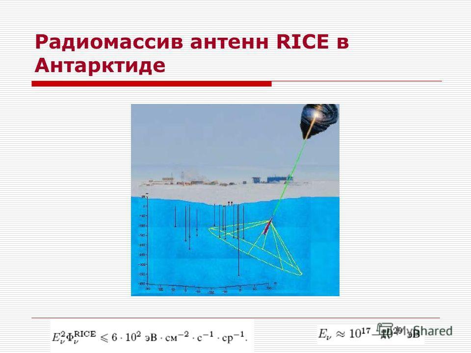 Радиомассив антенн RICE в Антарктиде