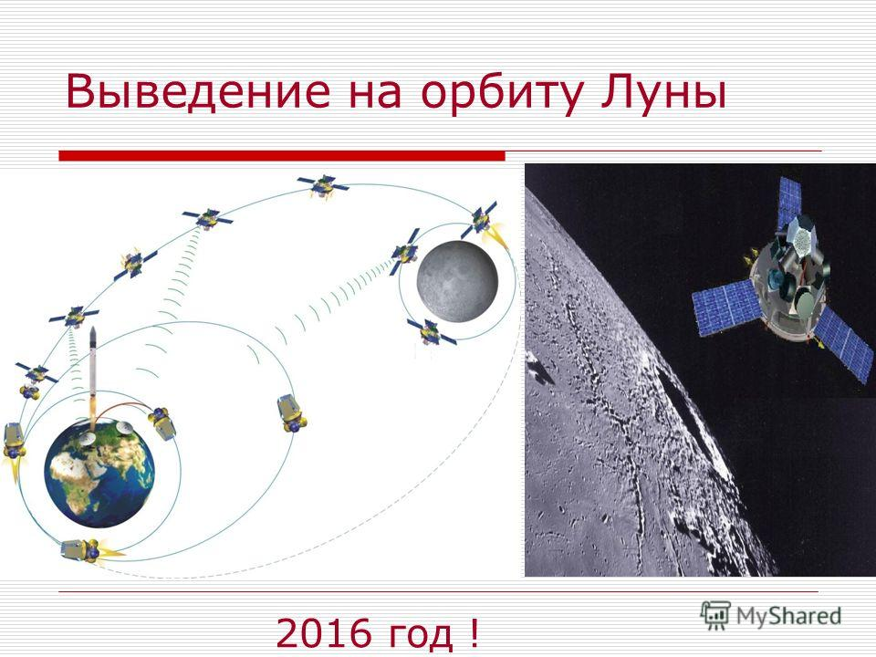 Выведение на орбиту Луны 2016 год !
