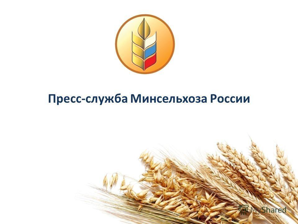 Пресс-служба Минсельхоза России