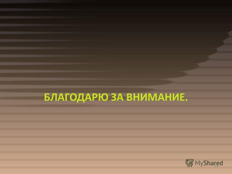 51 БЛАГОДАРЮ ЗА ВНИМАНИЕ. 51