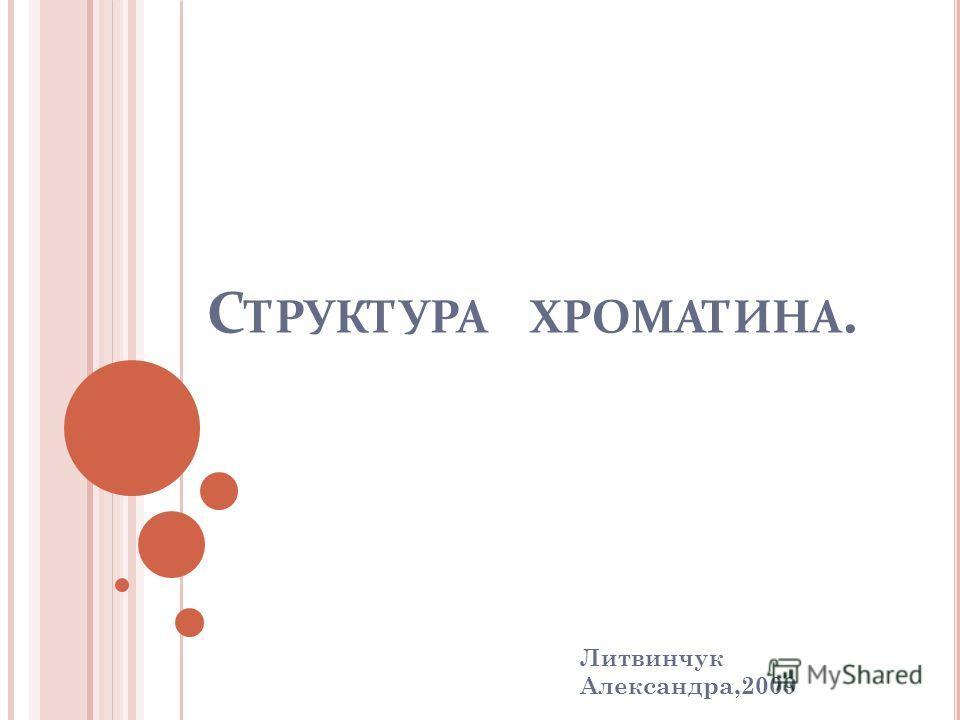С ТРУКТУРА ХРОМАТИНА. Литвинчук Александра,2009