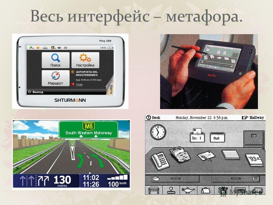 Весь интерфейс – метафора. 7