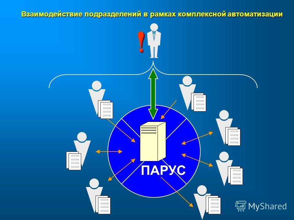 1111111 Взаимодействие подразделений в рамках комплексной автоматизации ПАРУС
