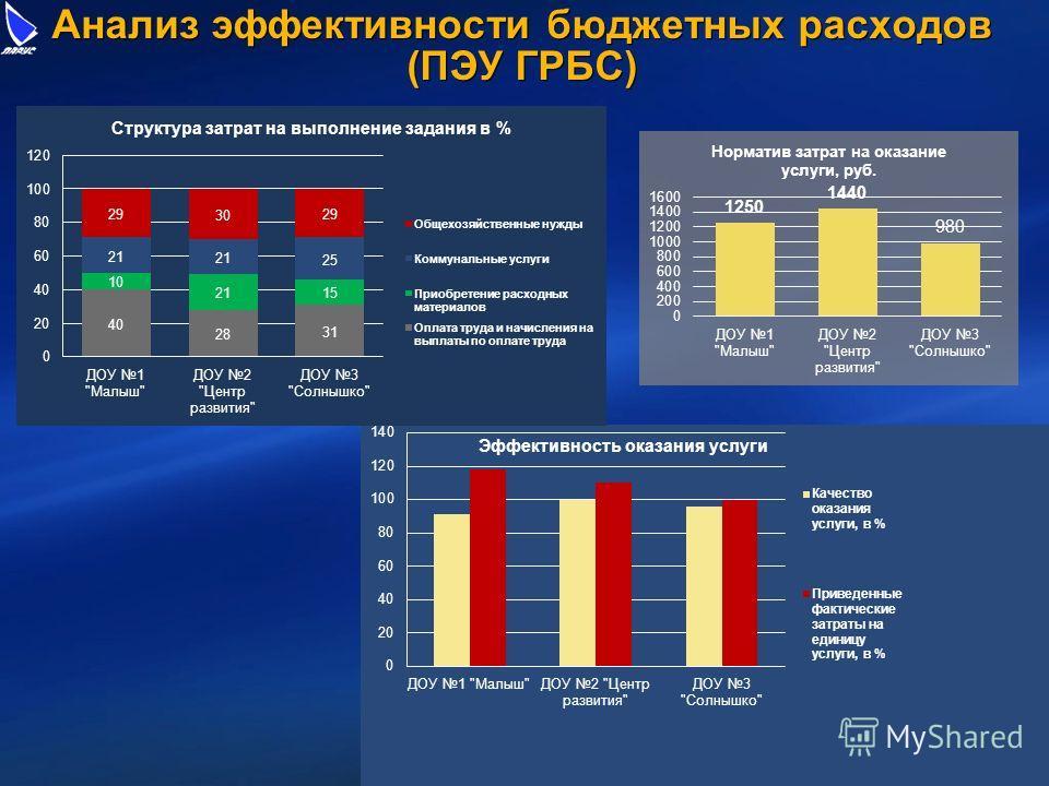 Анализ эффективности бюджетных расходов (ПЭУ ГРБС)