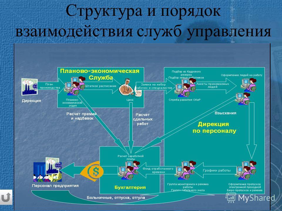 Структура и порядок взаимодействия служб управления персоналом