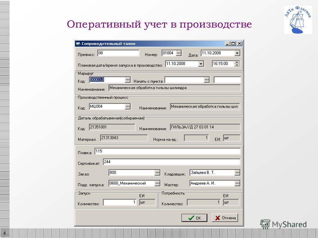 4 Оперативный учет в производстве