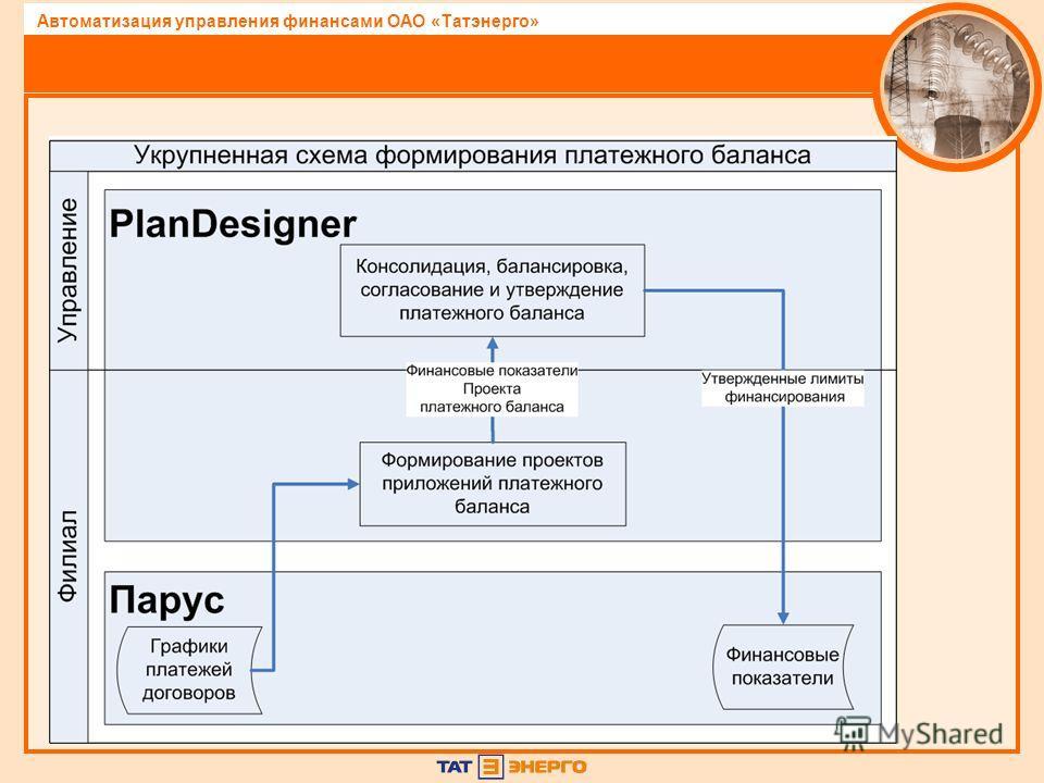 Автоматизация управления финансами ОАО «Татэнерго»