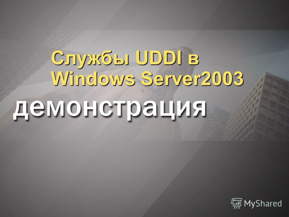 Службы UDDI в Windows Server2003