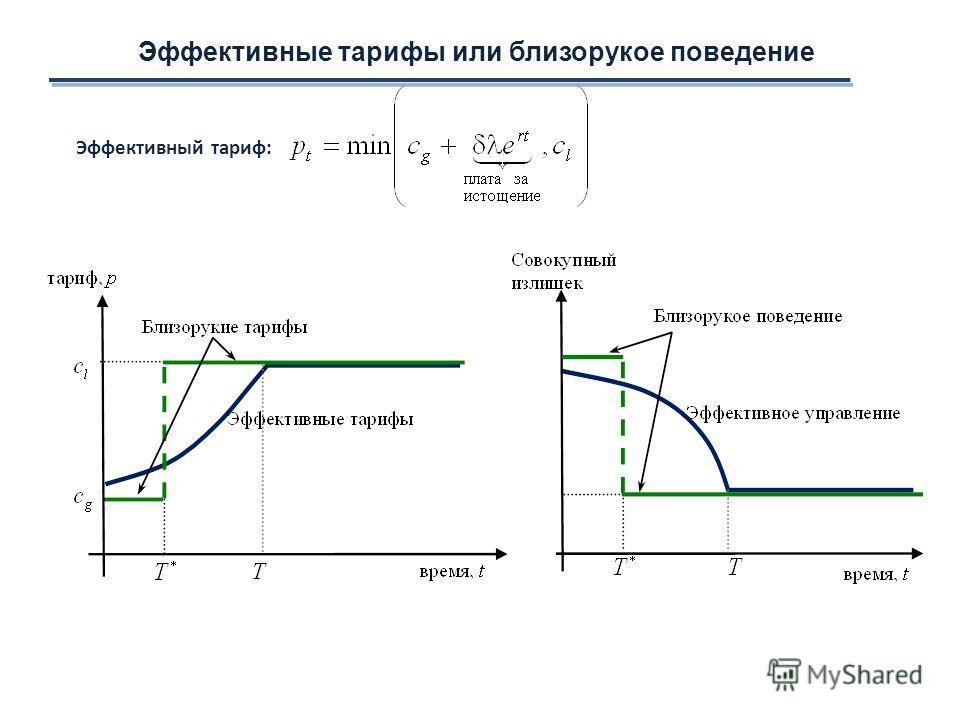 Эффективные тарифы или близорукое поведение Эффективный тариф: