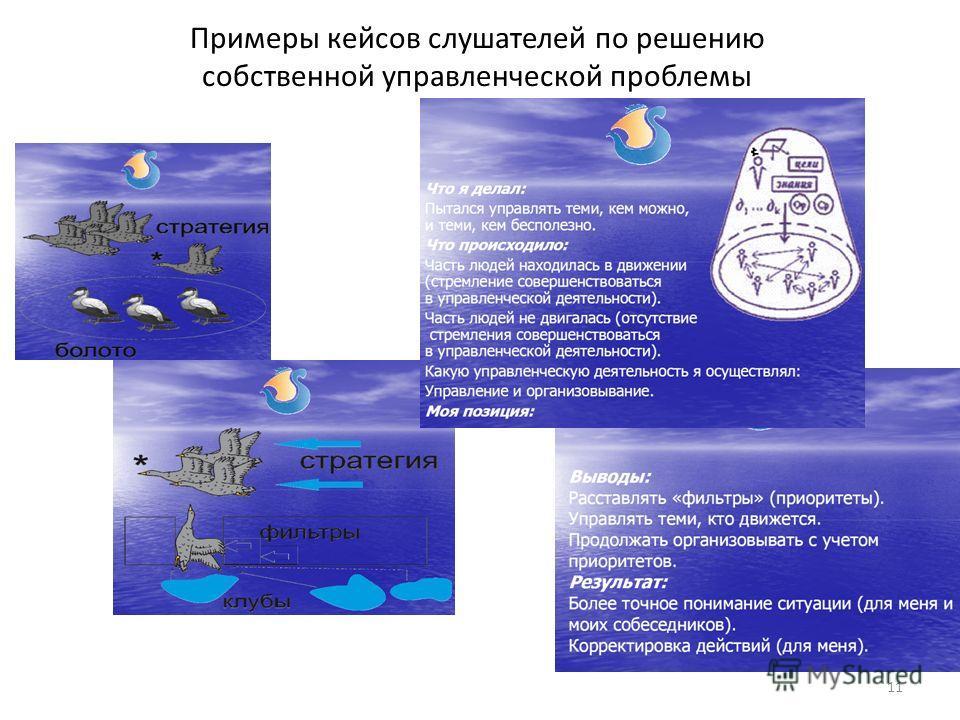 Примеры кейсов слушателей по решению собственной управленческой проблемы 11