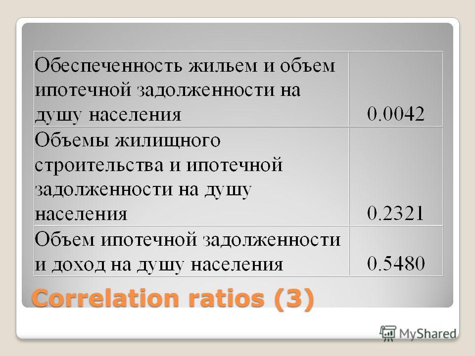 Correlation ratios (3)