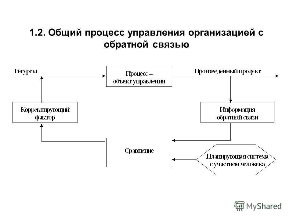 1.2. Общий процесс управления организацией с обратной связью