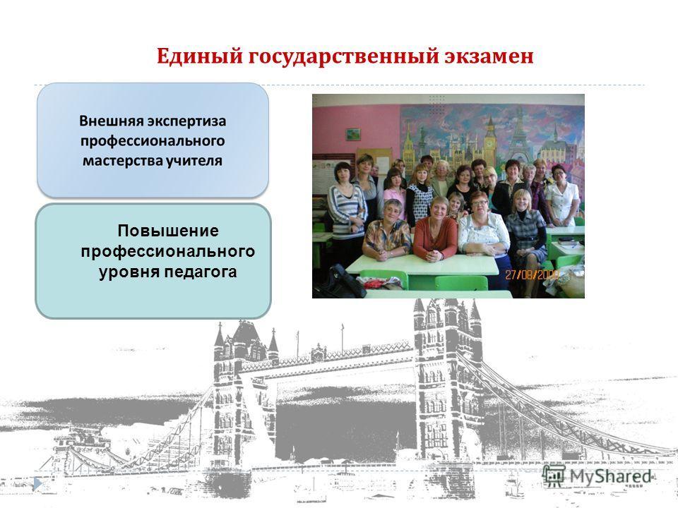 Единый государственный экзамен Повышение профессионального уровня педагога