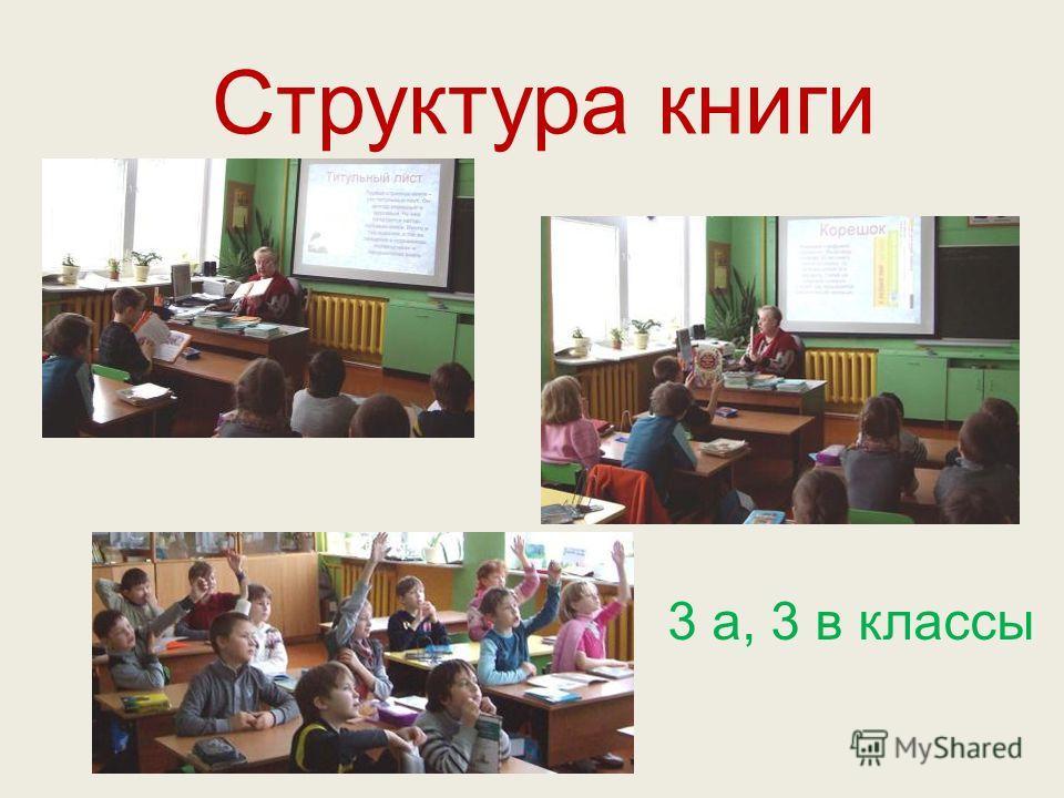 Структура книги 3 а, 3 в классы