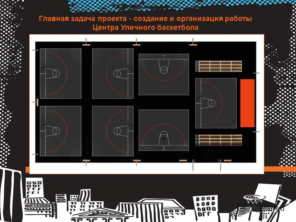 Главная задача проекта - создание и организация работы Центра Уличного баскетбола