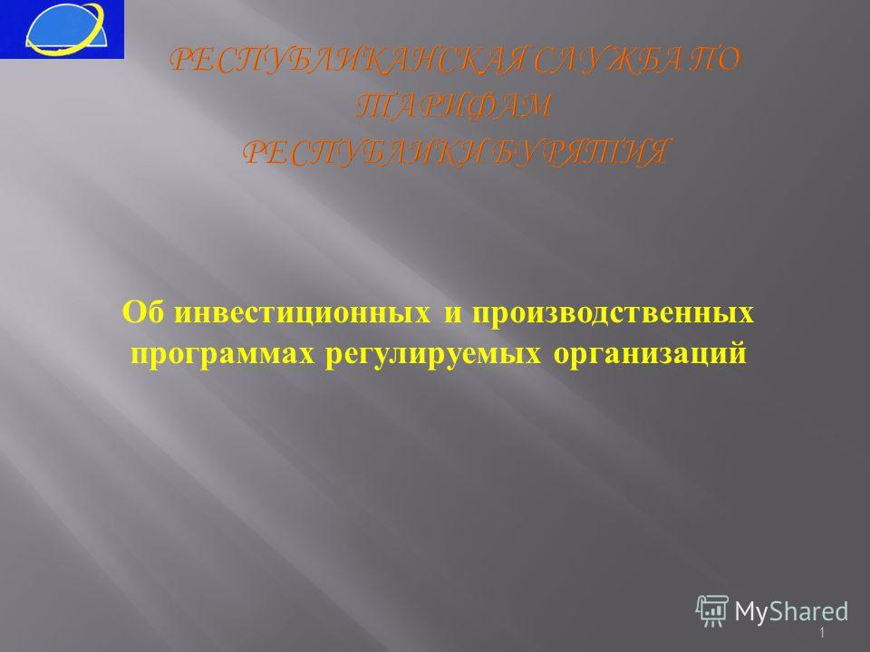 1 Об инвестиционных и производственных программах регулируемых организаций