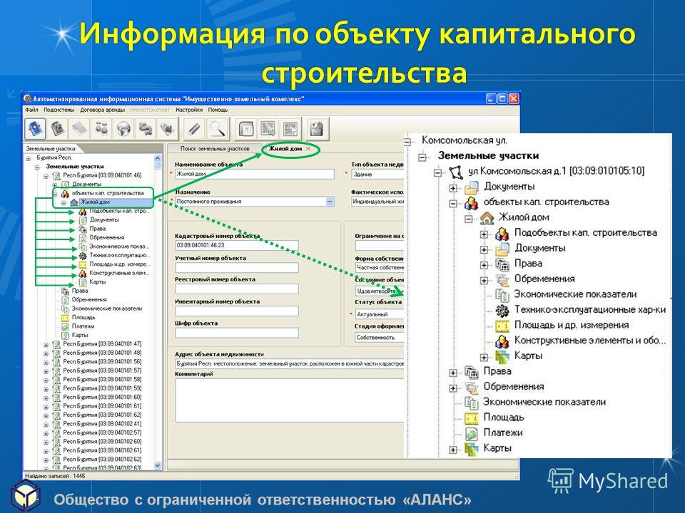 Информация пообъекту капитального Информация по объекту капитальногостроительства
