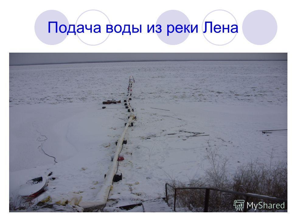 Подача воды из реки Лена