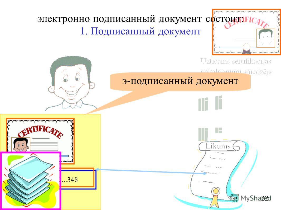 759...348 э-подписанный документ 22 электронно подписанный документ состоит: 1. Подписанный документ