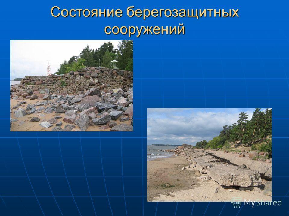 Состояние берегозащитных сооружений