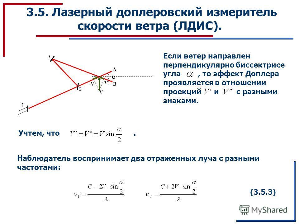 3.5. Лазерный доплеровский измеритель скорости ветра (ЛДИС). 2 V' V