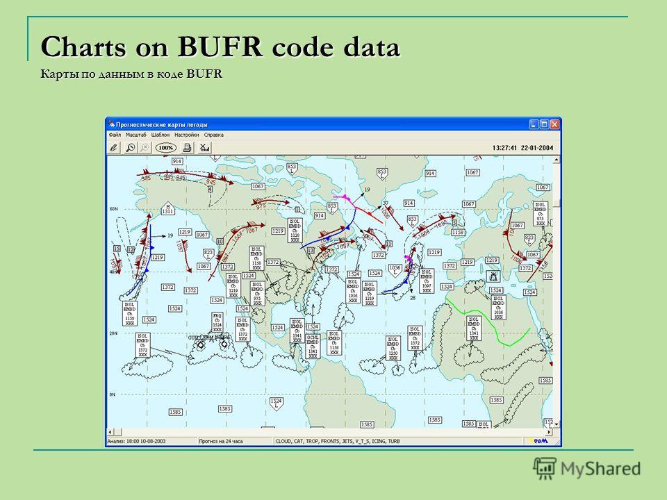 Charts on BUFR code data Карты по данным в коде BUFR