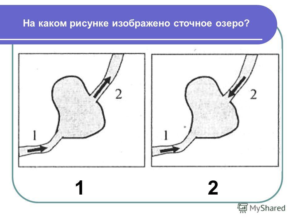 На каком рисунке изображено сточное озеро? 12